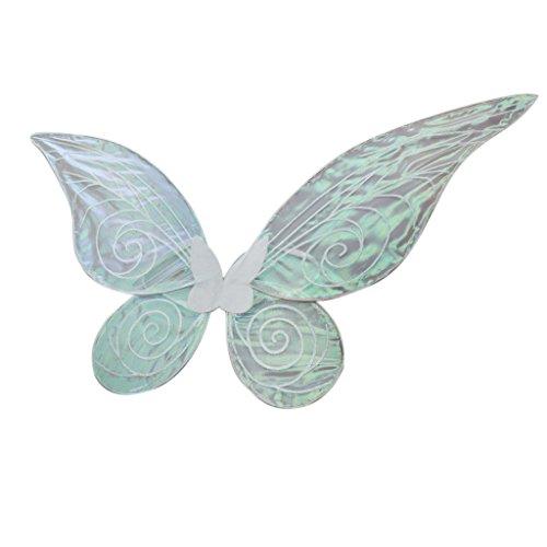 Gazechimp Alas de Hadas de Tul de Niños y Adultos Forma de Mariposa de Ángel Color Brillante Disfraces de Fiesta Decoración de Espectáculo Rosado/Blanco - Blanco, Adulto