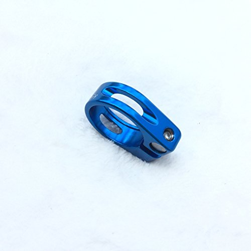 CarbonEnmy Abrazadera para sillín de bicicleta de aluminio, muy ligera, 31,8 mm,...