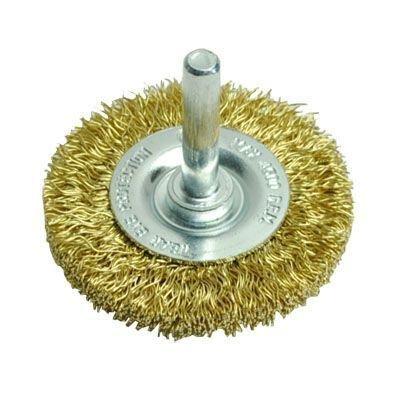 AP ホイール型 真鍮ワイヤーブラシ | ブラシ ワイヤー 研磨 サビ落とし 真鍮 真ちゅう サビ取り DIY