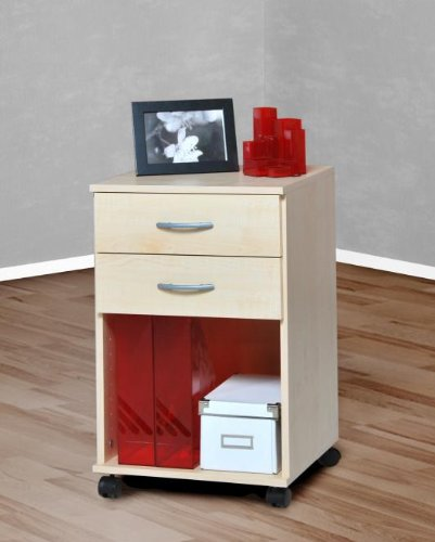 Möbeldesign Team 2000 - Rollcontainer Bürocontainer Schubcontainer Nachtschrank ahorn -3