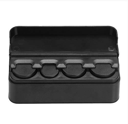 Auto Aufbewahrungsbox schwarz Kunststoff Auto Münzen Organizer Fall Lose Geld Geldkassette Container Geldmünzen Halter Organizer Moeda 4 Grid