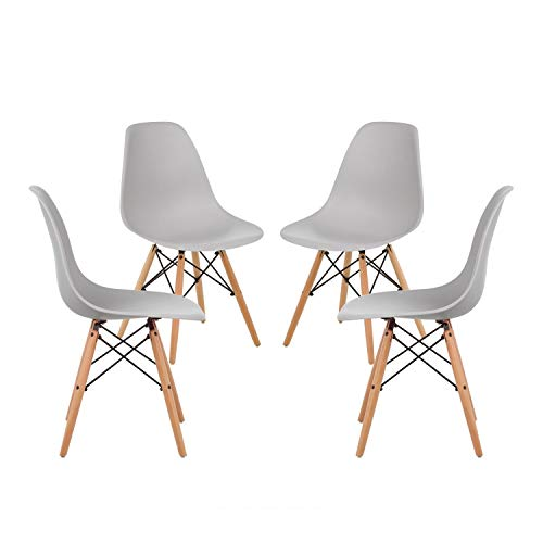 Econo pack of 4 grey chairs dining chairs home office chairs durable