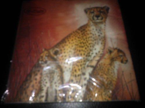 Tovagliolo confezione con 20 pezzi, 1/4 33 x 33 cm, con motivo leopardato