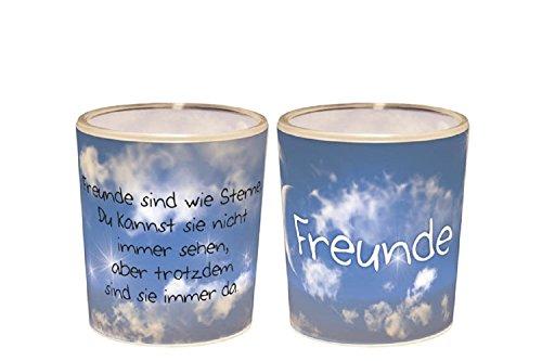 La Vida Teelichtglas, Plastik, bunt, 6 x 4 cm