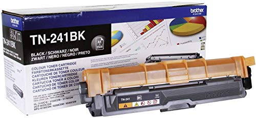 Brother TN241BK - Cartucho de tóner negro original para las impresoras HL3140CW, HL3150CDW, HL3170CDW, DCP9015CDW, DCP9020CDW, MFC9330CDW, MFC9140CDN y MFC9340CDW