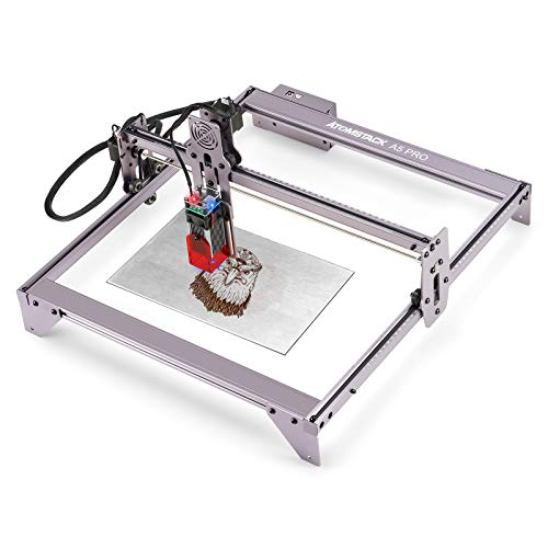 ATOMSTACK A5 Pro CNC Router Grbl DIY Stainless Steel Metal Laser Engraving Wood Cutting Graving Dog Tag Engraver Machine by Beruna(40W)