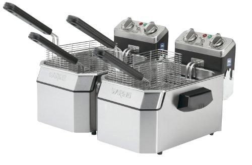 Waring Commercial WDF1000D 120-volt Heavy Duty Double Electric Deep Fryer, 10-Pound
