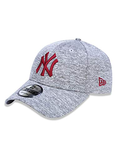 Casquette 9FORTY MLB Tech Jersey New York Yankees gris-rouge NEW ERA - Ajustable