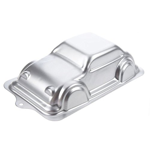 WJSYSHOP 10 Inch Car Shaped Aluminum 3D Cake Mold Baking Mould Tin Cake Pan