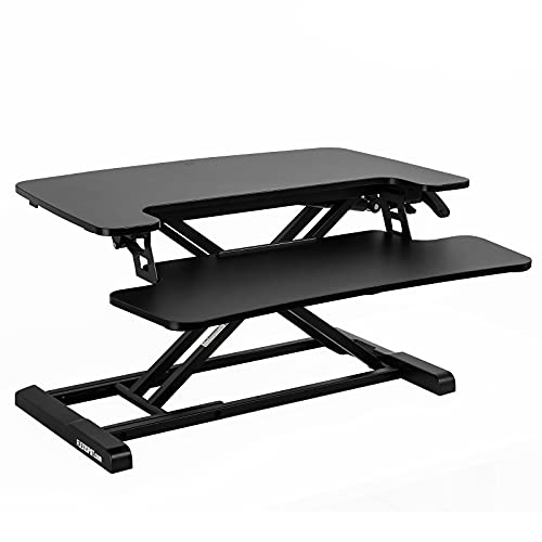 FLEXISPOT Standing Desk Converter 28 Inches Stand up Desk Riser, Height Adjustable Home Office Desk with Deep Keyboard Tray for Laptop (M7B)