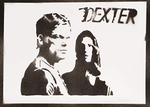 Dexter und Debra Morgan Poster Plakat Handmade Graffiti Sreet Art - Artwork
