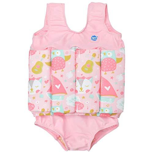 Splash About Mädchen Kinder-Schwimmanzug Mit Verstellbarem Auftrieb, Owl & The Pussycat, 1-2 Jahre