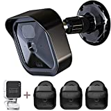 All-New Blink Outdoor Camera Housing and Mounting Bracket, 3 Pack Protective Cover and 360 Degree Adjustable Mount with Blink Sync Module Outlet Mount for Blink Camera Security System (Black)