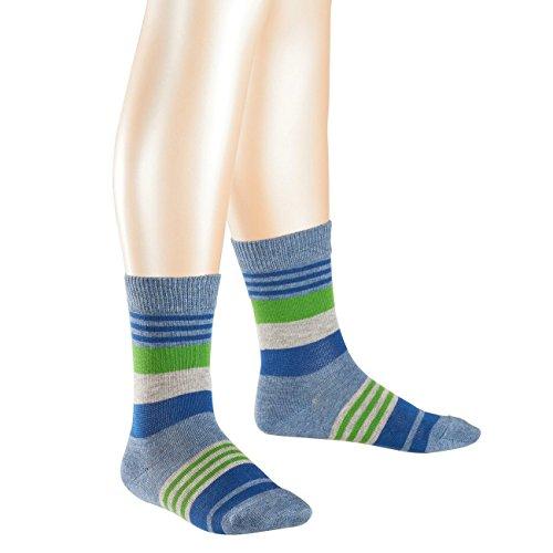 Falke Kinder Socken Irregular Stripe II 6er Pack, Größe:23-26, Farbe:Light Denim (6660)