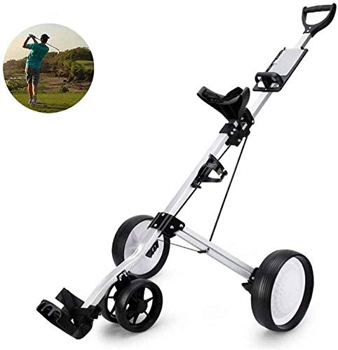YLLN Golf Trolley 4 Wheels Hand Cart Trolley Quick Open and Close