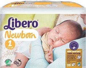 Libero Newborn 1 - Bambini di 2 a 5 kg - 28 pannolini