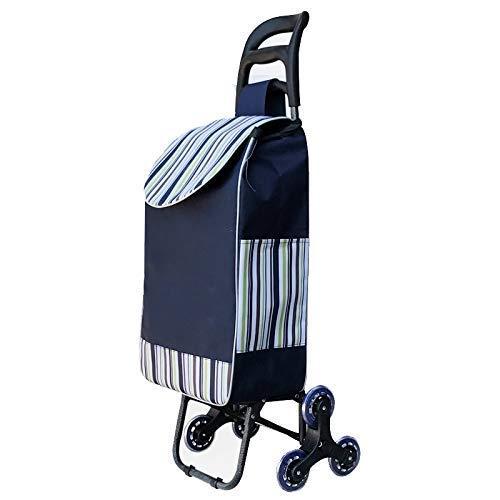 YUNLILI Convenientes Carrito de la Carrito de Compras de Escalada, Carro de Compras Ligero, Ropa Dura y Plegable para un fácil Almacenamiento (Color : Style a)