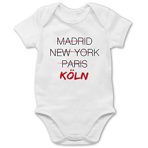 Städte & Länder Baby - Weltstadt Köln - 1/3 Monate - Weiß - köln Strampler - BZ10 - Baby Body Kurzarm für Jungen und Mädchen