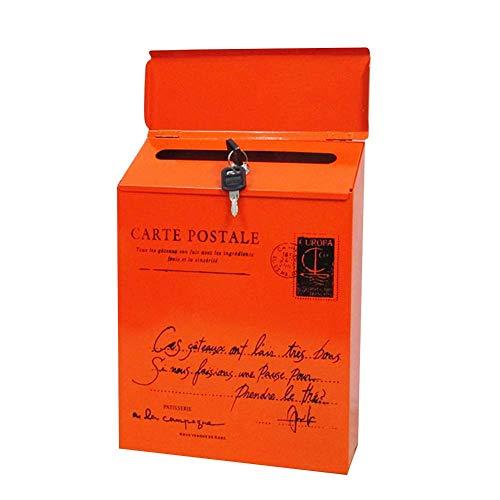 Zeaih brievenbus, Iron Lock Brievenbus Vintage muurbevestiging brievenbus, postbrief Brievenbus Handig om uw brief voor postbrief uit te nemen