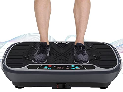 Yovital 3D Vibration Platform Machine, Whole Body Vibration Plate Exercise Machine with Loop Resistance Bands for Home Fitness Training Equipment & Weight Loss