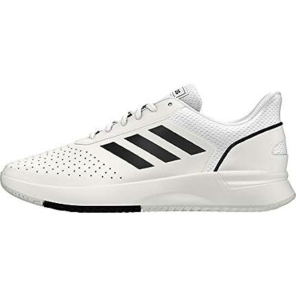 Adidas Courtsmash, Zapatillas de Tenis Hombre, Blanco (Ftwbla/Negbás/Gridos 000), 42 EU