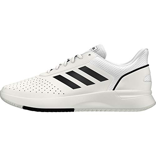 adidas COURTSMASH, Scarpe da Tennis Uomo, Ftwr White/Core Black/Grey Two f17, 45 1/3 EU