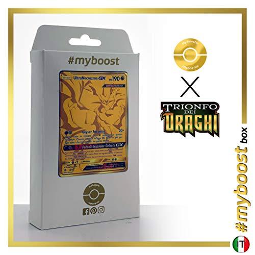 Ultra Necrozma-GX 78/70 Oro Segreto - #myboost X Sole E Luna 7.5 Trionfo dei Draghi - Box di 10 Carte Pokémon Italiane