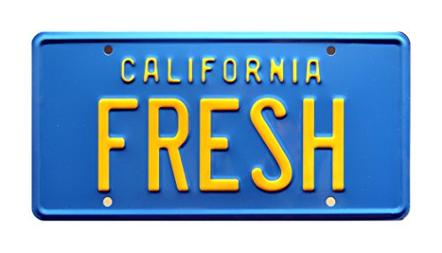The Fresh Prince of Bel Air | Taxi | FRESH | Metal Stamped Vanity Prop License Plate