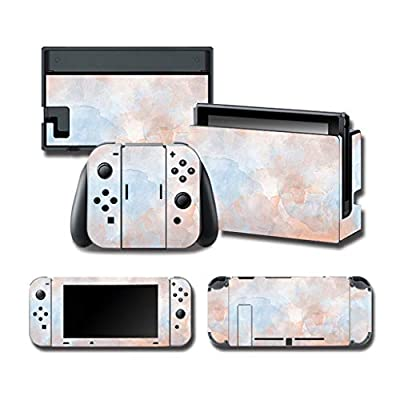 1Set Full Body Skin Colorful Sticker Compatible with for NS Switch Console Controller, Art Faceplate Skin Decal Stickers