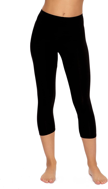 Felina   Cotton Modal Capri Leggings   Super Soft   Lightweight