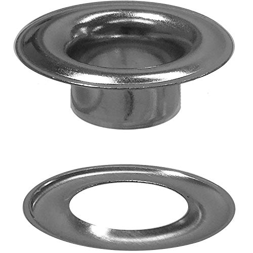 Stimpson 2GWSSM100 Sheet Metal Grommet and Washer Marine Grade Stainless Steel Durable, Reliable, Heavy-Duty #2 Set (100 Pieces of Each)