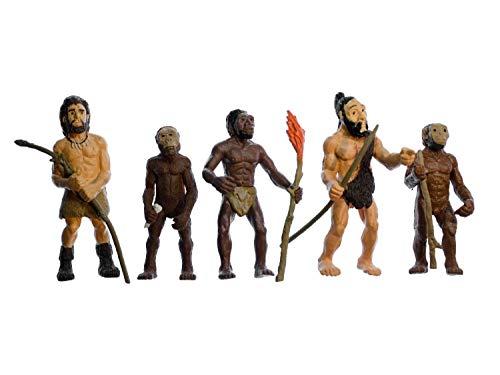 Miniblings 5X Evolution des Menschen Figuren Aufstellfiguren Mensch Neandertaler