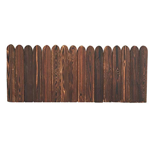 JIANFEI-weilan Gartenzaun Steckzaun Leitplanke, Zuhause Terrasse Massivholz Leitplanke Zum Park Weg Verschönern Dekoration, Pflanze Boden Halten Partition, 2 Modelle 8 Größen