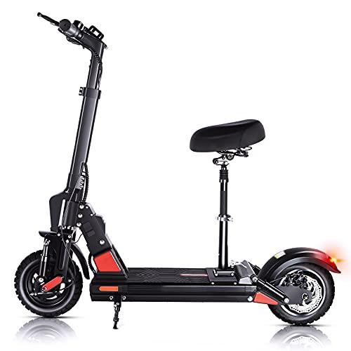E Scooter E Roller Elektroroller Erwachsene 45 km Lange Reichweite, 500W Motor, 50 km/h Elektro Roller mit Sitz 10 Zoll Luftreifen, C1 Pro