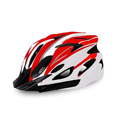 1pc del Casco De Ciclista Ciclismo Casco Ajustable Adulto Casco De Ciclista para Deportes Aire Libre (Rojo Y)