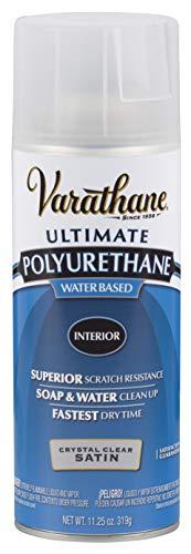 Rust-Oleum 200281 Varathane Crystal Clear Spar Urethane Spray, Satin Finish, Multicolor