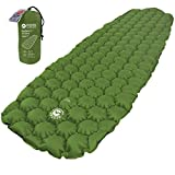ECOTEK Outdoors Insulated Hybern8 4 Season Ultralight Inflatable Sleeping Pad with Contoured FlexCell Design - Easy, Comfortable, Light, Durable, Hammock Approved - Sub Zero Temp Rating [Evergreen]