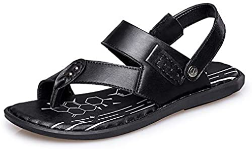 JUJIANFU-Fashion Herrenschuhe Sommermode Hausschuhe Herren Sandalen Casual Einfache leichte Sommer Schnalle Clip-on Hausschuhe (Farbe   Schwarz Größe   40 EU)