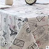 Mantel Minimalista, Bohemio, Moderno y Fresco, Apto para Jardines, mesas de Comedor, hoteles 140x220cm 05