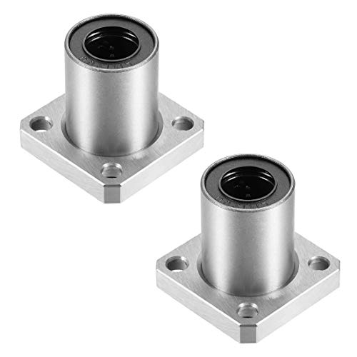 uxcell LMK12UU Square Flange Linear Ball Bearings, 12mm Bore Dia, 21mm OD, 30mm Length(Pack of 2)