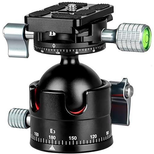 koolehaoda E3 Testa a sfera del treppiede Doppia testa panoramica con piastra a sgancio rapido Per treppiede per macchina fotografica (Panoramic Head E3)