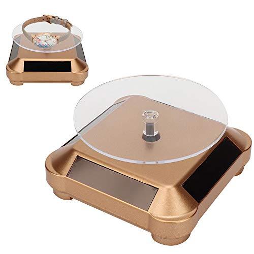 DAUERHAFT Soporte de exhibición Giratorio Soporte Giratorio de joyería de usos múltiples, para Reloj Soporte de exhibición de joyería(Golden)