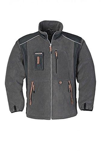 Arbeitsfleece Jacke, Terratrend Job, Grau, Gr.S-5XL, Größe:XL