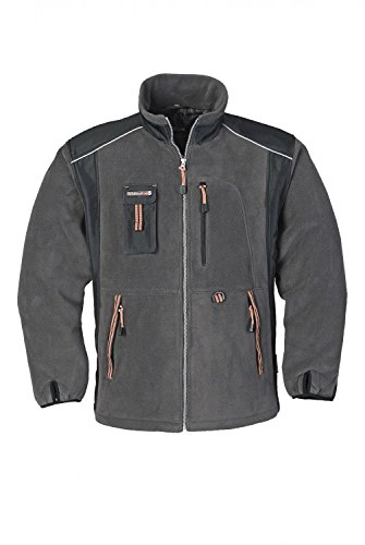 Terratrend Job 6657-s-6351 Gr. S Fleece Jacke – Grau/Orange