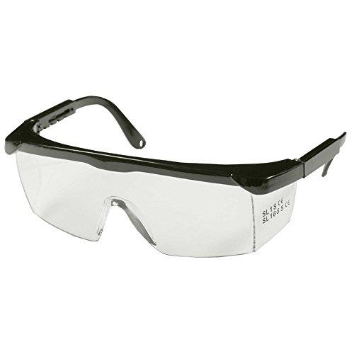 SBS® Schutzbrille | schwarz | verstellbare Bügel | mit optimalen Front- und Seitenschutz | Arbeitsschutzbrille | CE EN166