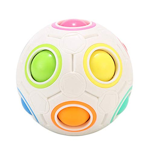 CuberSpeed Moyu Rainbow Ball Magic Cube Moyu 12 Holes Magic Rainbow Ball Puzzle