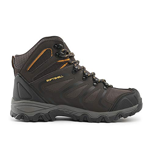NORTIV 8 Men's Ankle High Waterproof Hiking Boots Outdoor Lightweight Shoes Backpacking Trekking Trails