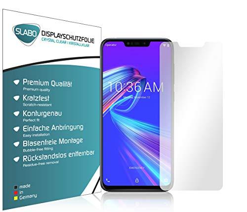 Slabo 4 x Bildschirmschutzfolie für Asus ZenFone Max M2 (ZB633KL) Bildschirmfolie Schutzfolie Folie Zubehör Crystal Clear KLAR