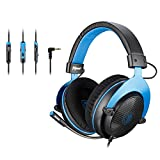 [Upgraded Version] SADES MPOWER Stereo Gaming Headset for Xbox One, Noise Cancelling Over Ear Headphones with Retractable and Flexible Mic & Soft Memory Earmuffs for Laptop Nintendo Switch Games