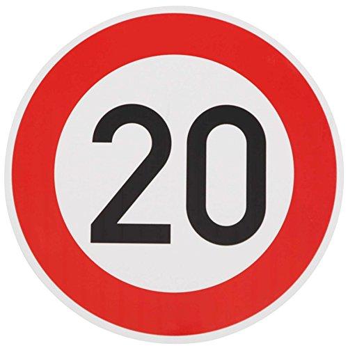 ORIGINAL Verkehrzeichen 20 KM/H Schild Nr. 274-52 Verkehrsschild Straßenschild Straßenzeichen Metall auch Gebutrtstagschild zum 20. Geburtstag als 20km Geburtstagsschild 42 cm Metall mit Folie-Typ1